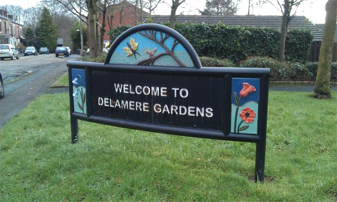 Delamere Gardens Sign